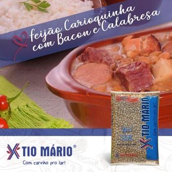 Receita de Feijão Carioquinha Com Bacon e Calabresa